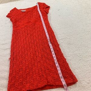 Kay Unger Dresses - Kay Unger New York red cap sleeve lace dress